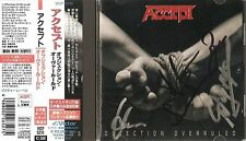 Accept - Objection Overruled + 1 (Japan CD with OBI - Autographed by 4 members)