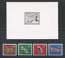 Foto federal-essay 529/532 animales 1967 cubierta borrador photo-essay proof rare e453
