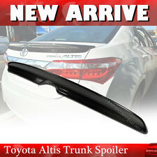 For Toyota Altis Corolla 2014-2016 EUR 4DR Sedan Rear Trunk Spoiler Carbon Fiber
