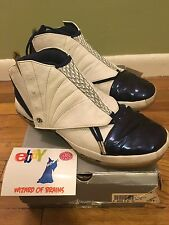 2001 NIKE AIR JORDAN XVI XV1 16 WHITE NAVY BLUE BLACK Size 12