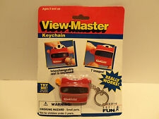 RARE 1997 Basic Fun View-Master Miniature Keyring Keychain Toy w Reel WORKS  NEW