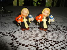 Original W Germany Goebel Munich Monk Children Salt Pepper Shakers Hearts