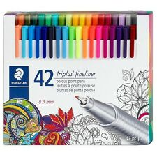 Staedtler Triplus Fineliner Assorted Color Pen Set, 42 Count     Free Shipping