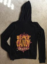 "Juicy Couture ""Eat Candy"" Black L/S Hoodie NWT"