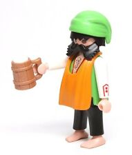 Playmobil Figure Castle Merry Men's Feast Barman w/ Apron Knit Hat Beer Mug 3627