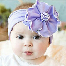 New Lovely Unusal Cotton Girls Babys Flower Headband Hairband Headwear Elastic