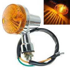 4Pcs Motorcycle Turn Brake Signal Light Bulb Lamp 12V Amber Indicators Chrome
