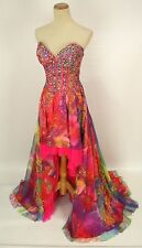 NEW $500 Jovani High Low Dance Evening Prom Formal Long Gown Size 2 Dress Mult