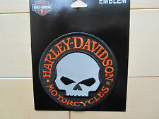 "Harley Davidson Small ""Willie G Skull Hubcap Reflective""  Emblem Patch"
