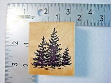 Embossing Arts Co. Rubber Stamp Fir Trees Vintage 1986