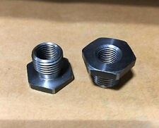 "2pc JACOBS 1/2""-20 Male x 3/8""-24 FT Drill Chuck Adapter Convertor Lot LA8040"