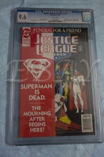 JUSTICE LEAGUE OF AMERICA # 70 CGC GRADED 9.6 WHITE PAGES DOOMSDAY SUPERMAN