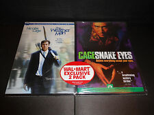 THE WEATHER MAN & SNAKE EYES-2 DVDs-Nicolas Cage, Michael Caine, Carla Gugino