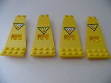 Lego 4 panneaux jaunes set 6475  / 4 yellow  panels with stickers