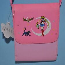 Anime Sailor Moon Usagi Tsukino Crossbody Wallet with strap in pink NEW