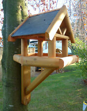 MOUNTED BIRD TABLE Tudor Manor House design Put on a tree, fence, post etc