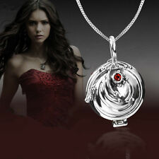 New 925 Sterling Silver The Vampire Diaries Elena Vervain Pendant Necklace