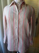 Sportscraft ladies linen blouse/top/shirt size 8