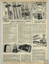 1966 PAPER AD 4 Pg Instruments Lyceum Metronome Seth Thomas Hohner Guitar Organ