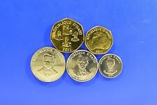 HAITI 5 DIFFERENT COIN SET 1995-2011 5 20 50 CENTS 1 5 GOURDES UNC LOW PRICE !!!