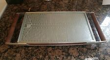 VTG.Salton Hotray Hot Plate Automatic Food Warmer Model H-121 Walnut Handles USA