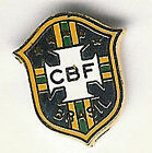 BRAZIL INTERNATIONAL FOOTBALL OFFICIAL ENAMEL BADGE