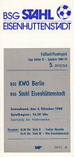 DDR-Liga 80/81 ZEPA acero Eisenhüttenstadt-BSG Kwo Berlin 04.10.1980