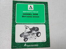 Allis Chalmers 508 Riding Mower Operators Manual Lawn Garden 1974
