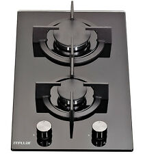 MILLAR GH3020PB 30cm Built-in 2 Burner Domino Gas on Glass Hob with FFD