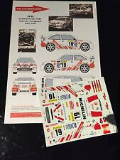DECALS 1/24 FORD ESCORT DELECOUR RALLYE MONTE CARLO 1999 WRC RALLY TAMIYA