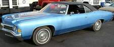 OLDSMOBILE DELTA ROYALE  71-76 CONV. TOP+NON-HEATED GLASS-BLACK STAYFAST CLOTH