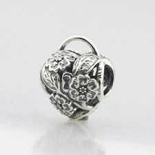 NEW! AUTHENTIC PANDORA CHARM FLORAL HEART PADLOCK #791397 BOX INCLUDED