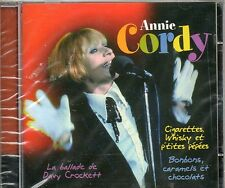 """CD 20T ANNIE CORDY """"CIGARETTES WHISKY ET P'TITES PEPEES  NEUF SCELLE"""