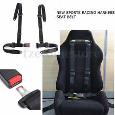 Sport Racing Harness Safety Seat Belt 3 4 Point Universal Mounting Quick Release