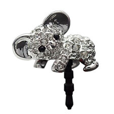 1pcs cute diamante koala headphone jack dust plug cell phone accessories 2016