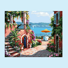 Seaside Villa DIY Paint By Number Kit On Canvas Digital Oil Painting Home Decor