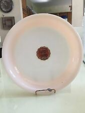 Vintage Fire King Glass Copper Tint Lustre Glass Shell Pie Plate Original Label