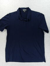 BMW LifeStyle Short Sleeve Cotton Polo Shirt (Mens Large) Blue