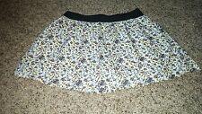 Old Navy skirt floral flower elastic waist lined pockets 100% cotton womens M