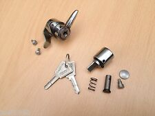 CHROME STEERING LOCK & TOOL BOX LOCK. INC FIXINGS. COMMON KEY. FOR LAMBRETTA GP