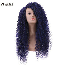 Long curly Blue Wigs For Black Women violet afro kinky curly Hair Lace wig
