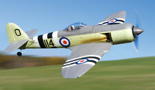"1/6 Scale HAWKER SEA FURY scratch build R/c Plane Plans 77""ws FOLD WING VERSION"