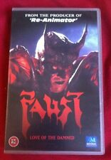 FAUST - RARE TIME CODE WITH SAMPLER SLEEVE VHS Brian Yuzna