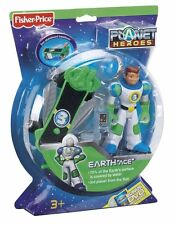 """FISHER PRICE PLANET HEROES EARTH  """"ACE"""" W/ SUPER SKATEBOARD & DVD *NEW*"""