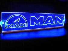 MAN WITH LOGO ENGRAVED ILLUMINATING BLUE NEON PLATES LED 24 Volts
