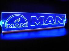 MAN WITH LOGO ENGRAVED ILLUMINATING BLUE NEON PLATES LED 24 Volts