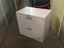 2 DRAWER LATERAL SIZE FILE CABINET by HON OFFICE FURNITURE MODEL 672L w/LOCK&KEY
