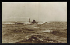 Mint WW 1 Germany RPPC Postcard U Boat Submarine At Sea Diesel Smoke Stack