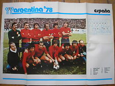 ARGENTINA 78 ALBUM COGED POSTER ESPANA SPAIN SPAGNA WORLD CUP 1978 FOOTBALL
