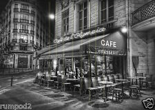 Paris /Photo/Mini French Print/5x7 inch/Paris cafe at night